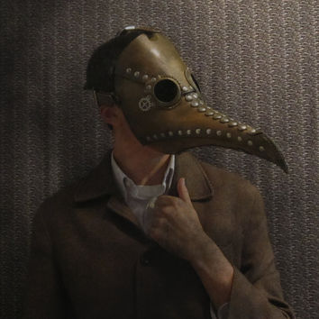 Leather Plague Doctor Mask. Steampunk design