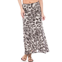 Lola P. Womens Morgan  Printed Long Maxi Skirt