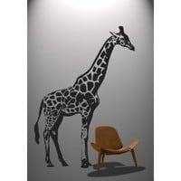 "Stickerbrand Vinyl Wall Decal Sticker 7ft Tall BIG Giraffe 84""x59"" #383A: Everything Else"