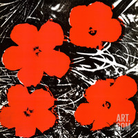 Flowers (Red), 1964 Art Print by Andy Warhol at Art.com