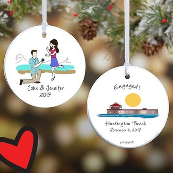 Beach Engagement Ornament
