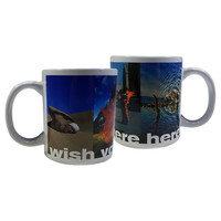 PF Wish You Were Here White Mug