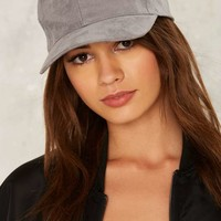Home Base Vegan Suede Baseball Cap - Gray
