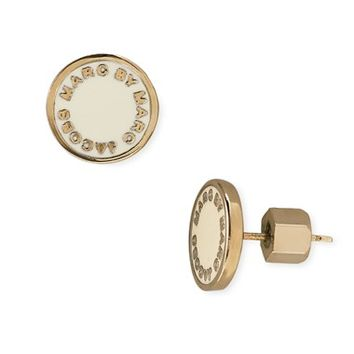 Women's MARC BY MARC JACOBS Enamel Logo Disc Earrings