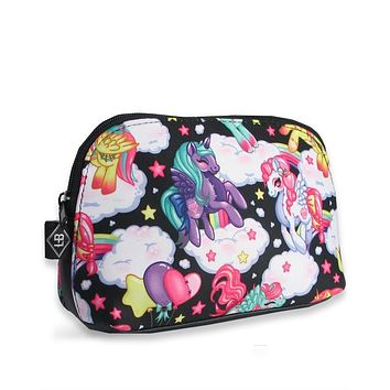 Liquorbrand Rockabilly Lolita Rainbows & Unicorn Pony Cosmetic Bag Pouch