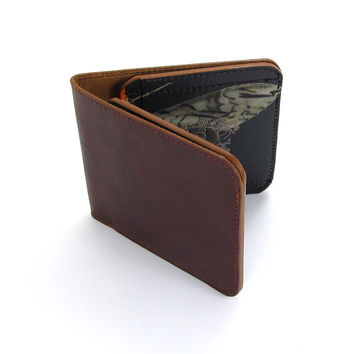 Leather Wallet - Chestnut & Hawkmoth
