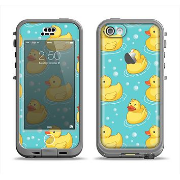 The Cute Rubber Duckees Apple iPhone 5c LifeProof Nuud Case Skin Set