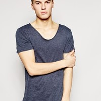 New Look T-Shirt with Voop Neck at asos.com