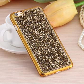 Luxury Rhinestone Hard Back Cover Case For iPhone