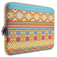 PLEMO Bohemian Style Canvas Fabric 15-15.6 Inch Laptop / Notebook Computer / MacBook / MacBook Pro Sleeve Case Bag Cover, Mystic Forest