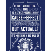 Doctor Who Wibbly Wobbly Timey Wimey Poster