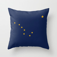 Alaska State Flag - Authentic version Throw Pillow by LonestarDesigns2020 - Flags Designs +