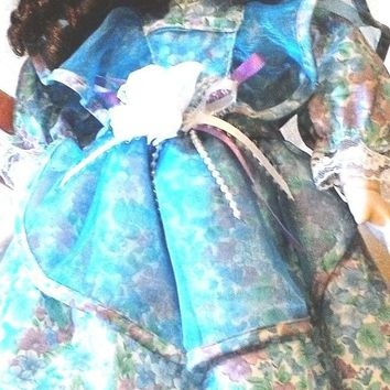 Collectible Porcelain Doll in Garden Dress