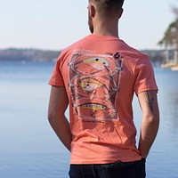 Lures T-Shirt in Neon Orange by Fripp & Folly