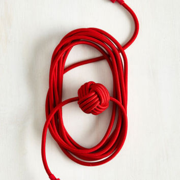 Knot Your Average Charging Cable in Red by ModCloth