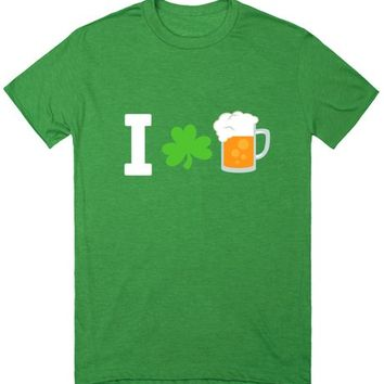 I Love Beer Shamrock St Patricks Day Shirt