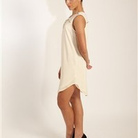 Ivory Spikes and Studs Dress