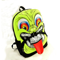 Backpack Character Design Schoolbag Grimace Monster Mochila Skull Heads