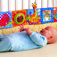 Lovely Baby Toy Practical Babies crib cot Bumpers  Early Education Cotton Cloth Book Colorful Bed Bumpers Colorful Animal Design