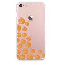 iPhone 8 Case, iPhone 7 Case, CasesByLorraine Halloween Cute Pumpkins Clear Transparent Case Slim Hard Plastic Back Cover for Apple iPhone 7 & iPhone 8 (P111)