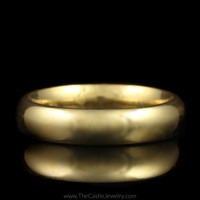 Polished Comfort Fit Wedding Band 4.25mm Size 5 in 14K Yellow Gold