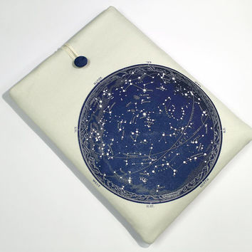 MacBook Air Laptop Sleeve, Celestial map, Star Map, Macbook Pro laptop case , Macbook Retina laptop cover, Sky map, padded laptop sleeve