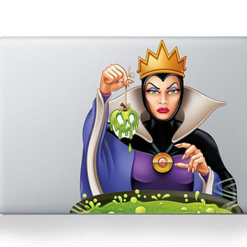 Snow White Evil Queen Disney Apple Macbook Pro Air Retina Sticker Skin Vinyl Decal- Macbook Decals, Macbook Accessories
