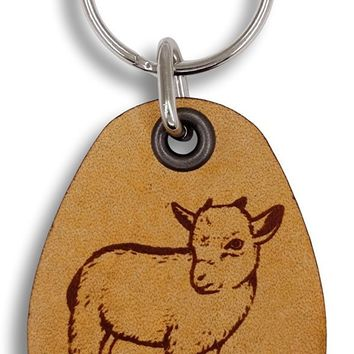 ForLeatherMore - Goat - On the Farm - Genuine Leather Keychain