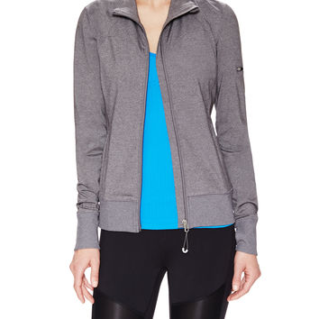 Alo Yoga Women's Warrior Track Jacket - Grey -
