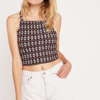 Cooperative by Urban Outfitters Cross Back Jacquard Cami Top - Urban Outfitters