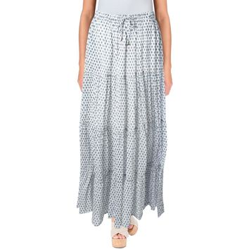 Scotch & Soda Womens Printed Full Length Maxi Skirt