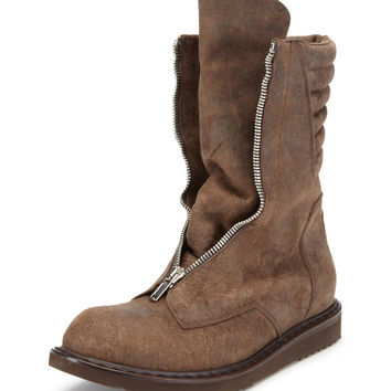 Rick Owens Distressed Military Boot