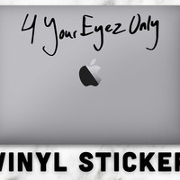 J Cole 4 Your Eyez Only New Album Vinyl Sticker