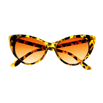 Retro Glam Tip Pointed Celebrity Fashion Womens Cat Eye Sunglasses C09