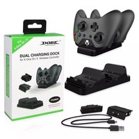 Dual Charging Dock Station Charger with 2 Rechargeable Batteries Fast Charging for XBOX ONE, Xbox One S for Xbox one X Gamepad
