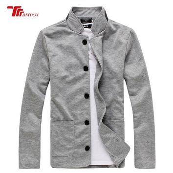 New Men Blazer Fashion Slim Casual Blazer For Men 3 color collar patch Chinese tunic small suit man coat