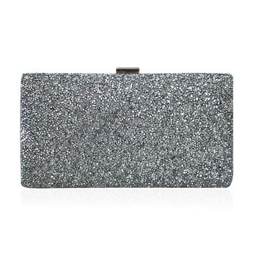 Fashion Woman Evening bag Diamond Rhinestone Clutch Crystal Day Clutch Wallet Wedding Purse Party Banquet Black/Gold Silver