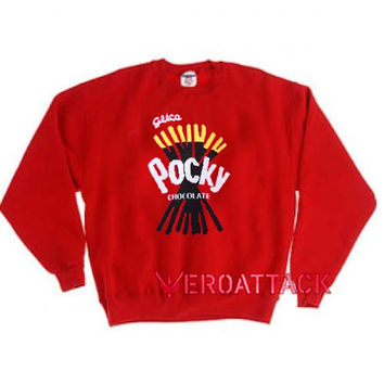 Pocky Chocolate Red Unisex Sweatshirts