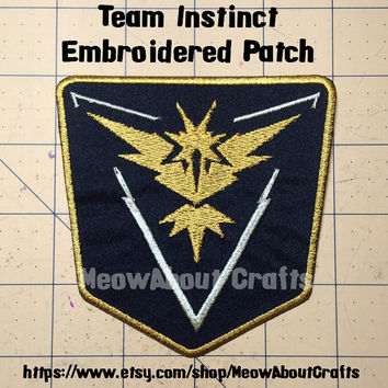 Team Instinct patch - Pokemon Go
