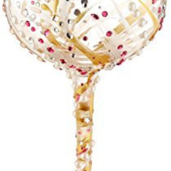 "Lolita from Enesco Bling 10th Wine Glass, 10"", Multicolor"