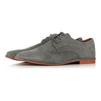 Grey Suede Gibson Shoes