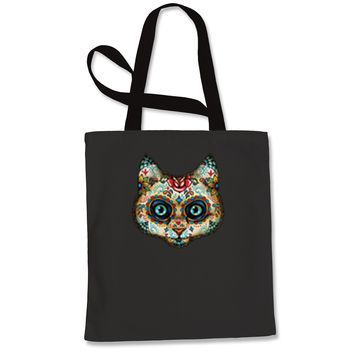 Cat Day Of The Dead Shopping Tote Bag