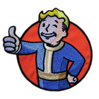 Vault Boy Fallout 3 Iron On Patch by JoJoCustomizes on Etsy