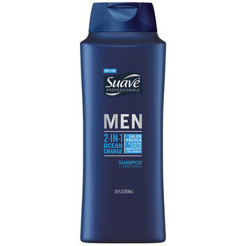 Suave Men 2 in 1 Shampoo and Conditioner Ocean Charge - 28oz