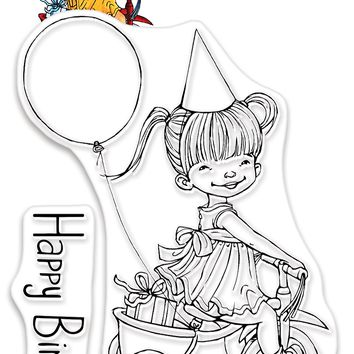 Penny Black Clear Stamps-Birthday Wheels