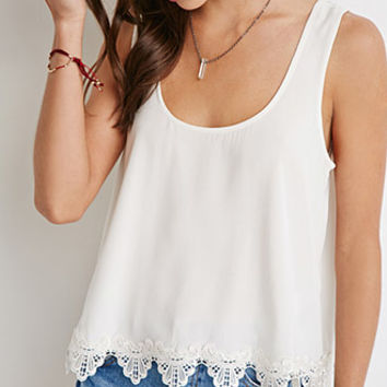 Scalloped Crochet-Hem Top