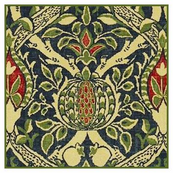 Granada detail 3 by William Morris Design Counted Cross Stitch or Counted Needlepoint Pattern