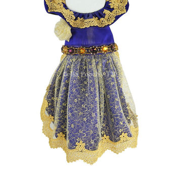 Purple & Gold Couture Princess Dress for Dogs by Bella Poochy TM