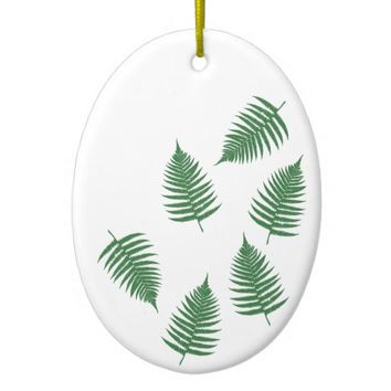 Green Fern Lucky Holiday Ornament