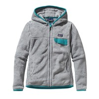 Patagonia Women's Re-Tool Full Zip Fleece Hoody | Tailored Grey - Nickel X-Dye w/Tobago Blue